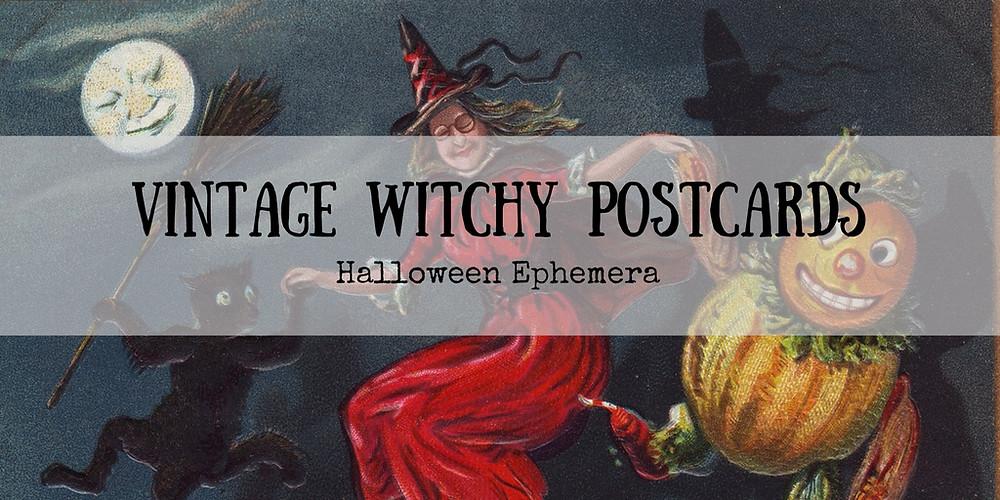 Vintage Witch Postcards