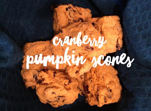 Cranberry Pumpkin Scones