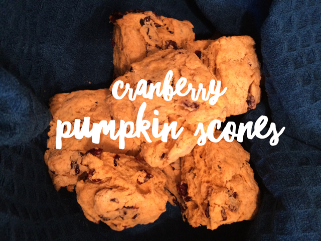 Cranberry pumpkin scones
