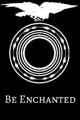 Be Enchanted logo - crow over ouroboros
