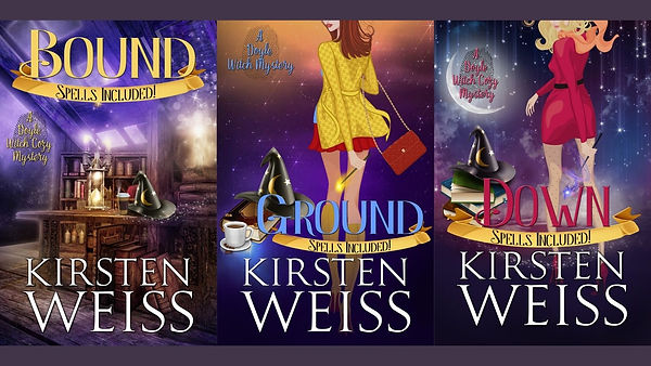 Book covers for Bound, Ground and Down