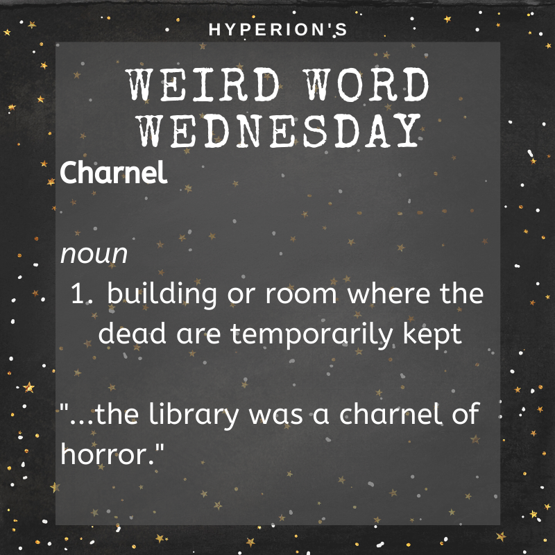 Charnel. Noun. 1. building or room where the dead are temporarily kept. Usage: the library was a charnel of horror.