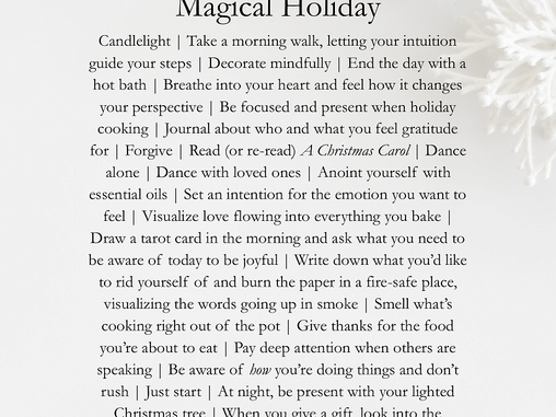 A Holiday Printable from the Witches of Doyle