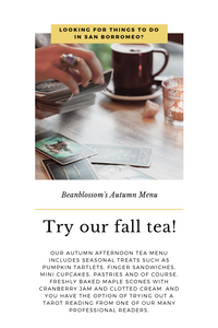 Beanblossom's Fall Afternoon Tea Menu