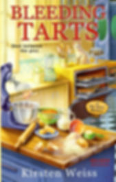 Bleeding Tarts, a funny cozy mystery from the Pie Town series of mystery novels. Plus pie.