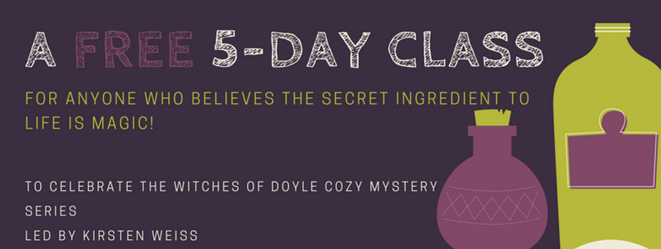 Free kitchen witch class from the Witches of Doyle