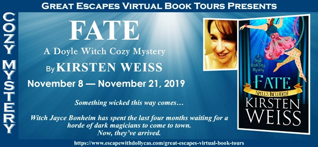 Header for the Fate book tour -- November 8 - Nov. 21st