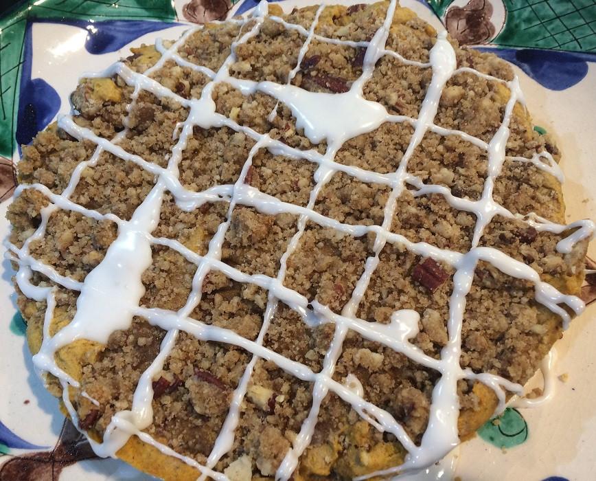 Pumpkin streusel tea cake