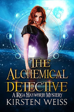 The Alchemical Detective, an urban fantasy paranormal mystery in the Riga Hayworth series, featuring a complicated woman sleuth
