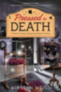 Pressed to Death, a funny cozy mystery from the Perfectly Proper Paranormal Museum series of mystery novels