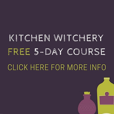 Kitchen witch course from the Witches of Doyle magical cozy mystery novels