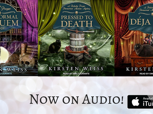 The Paranormal Museum Mysteries Are Now Audio Books!