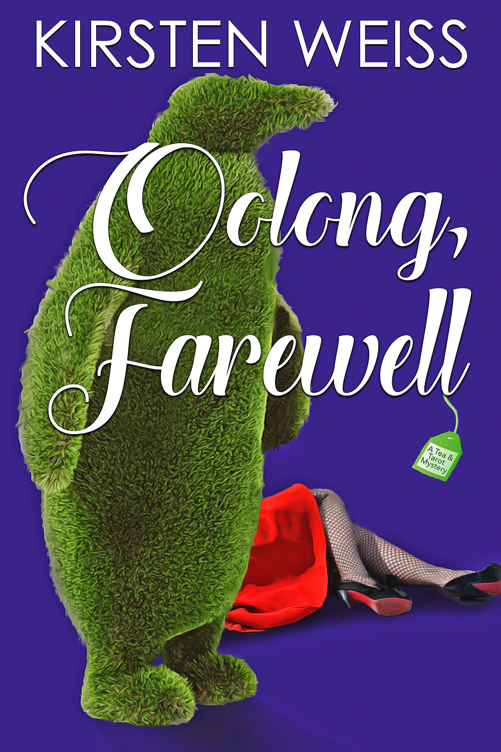 Oolong Farewell cover - topiary penguin and dead body