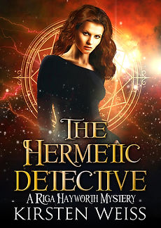 The Hermetic Detective, an urban fantasy paranormal mystery in the Riga Hayworth series, featuring a complicated woman sleuth