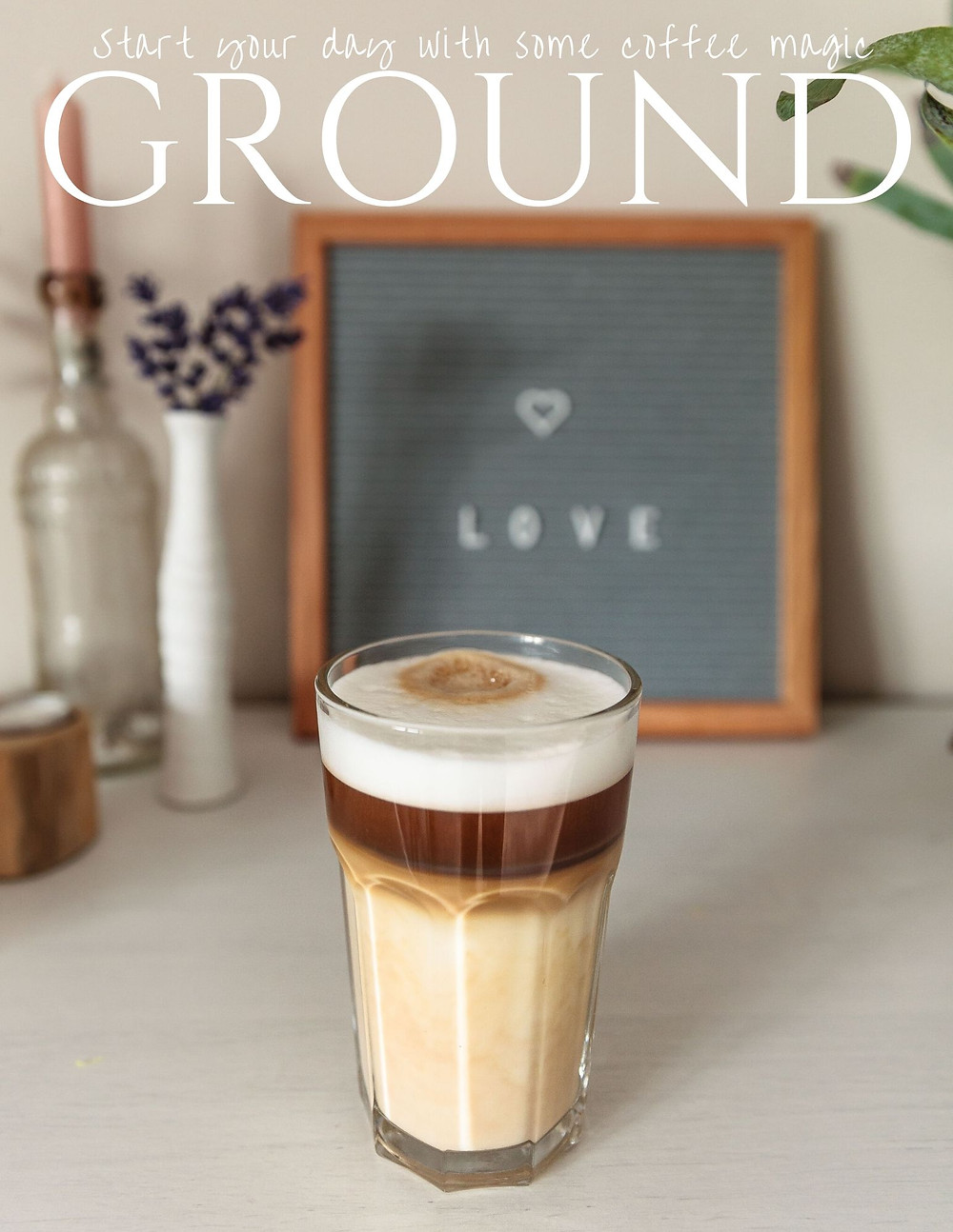Start your day with some coffee magic at Ground - flyer