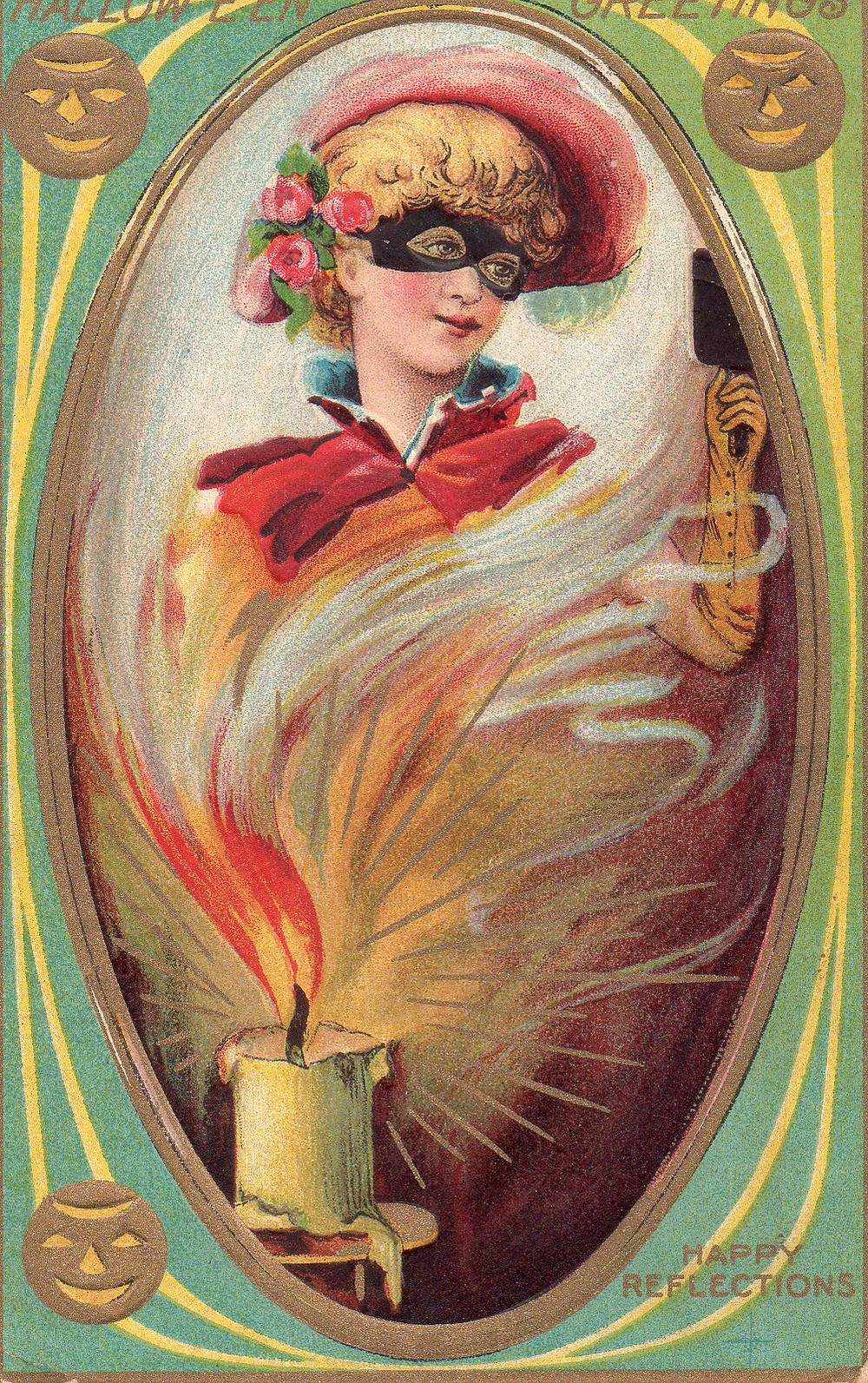 Halloween postcard 1909