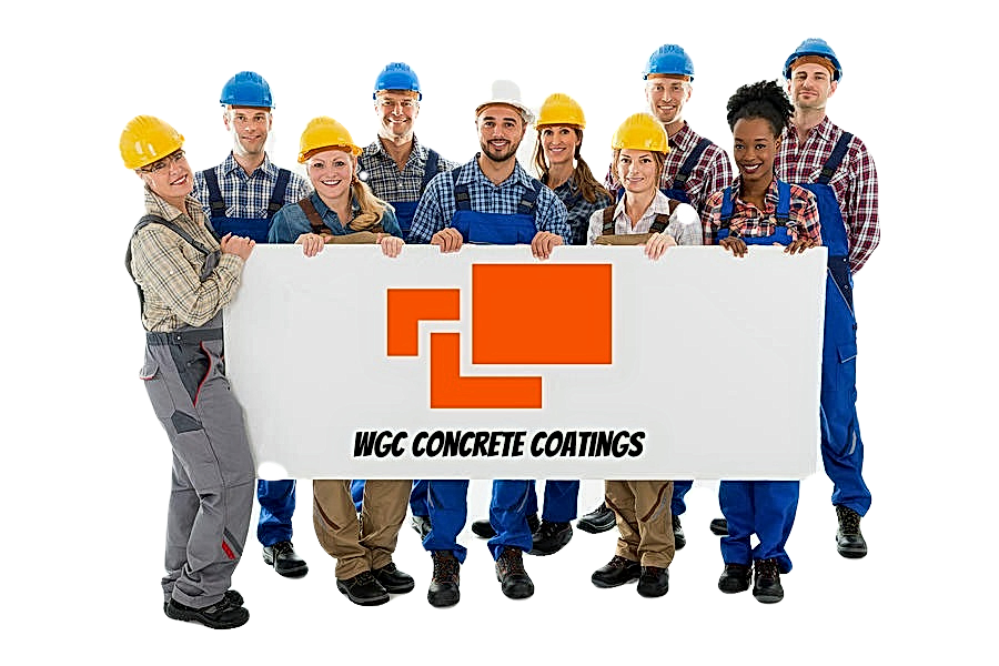 Construction workers holding WGC Concret