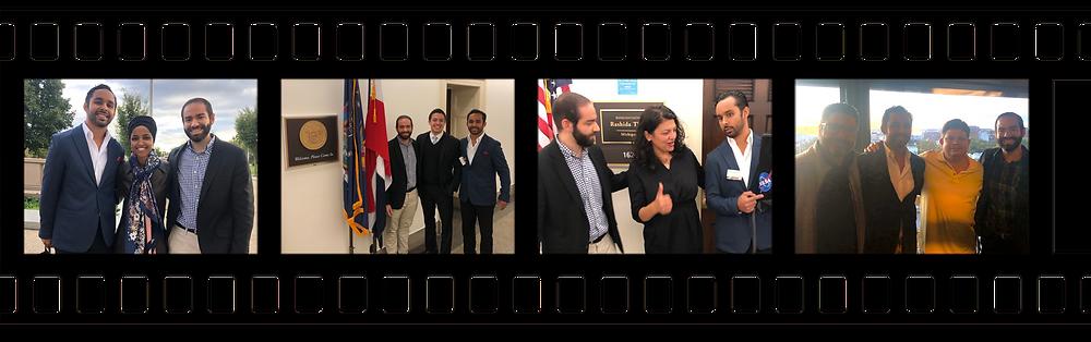 Felipe Castro Quiles & Jean García Periche meeting with Congresswoman Ilhan Omar, Congressman Adriano Espaillat (with Omar Pimentel), Congresswoman Rashida Tlaib, Hon. Angel Matos & Ho. Javier Aponte Dalmau