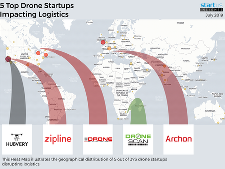 HUBVERY one of 5 Top Drone Startups Out Of 373 In Logistics