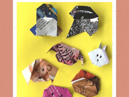 mini craft: animales en origami
