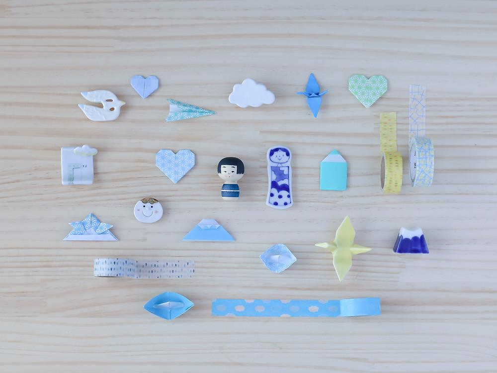 Origami washi tape objetos japoneses