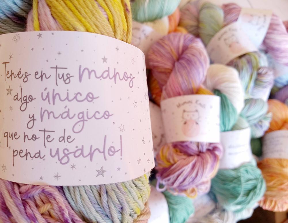Madeja hilo de algodón teñido speckles colores pasteles felix felicis