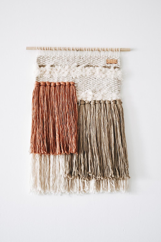 Telar decorativo artesanal weaving