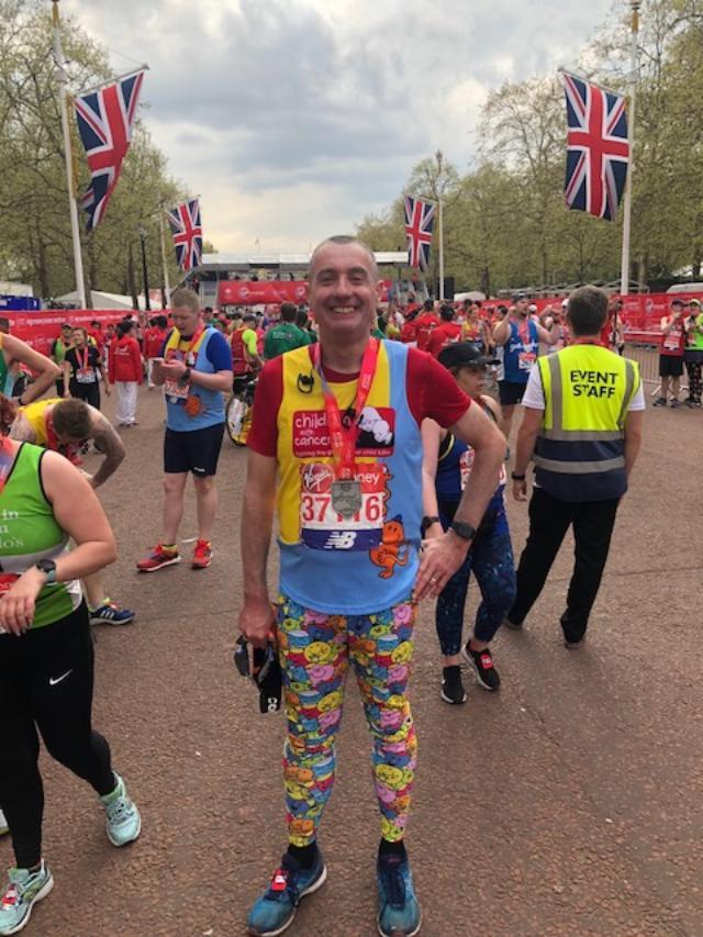 Mark Bennett at London Marathon