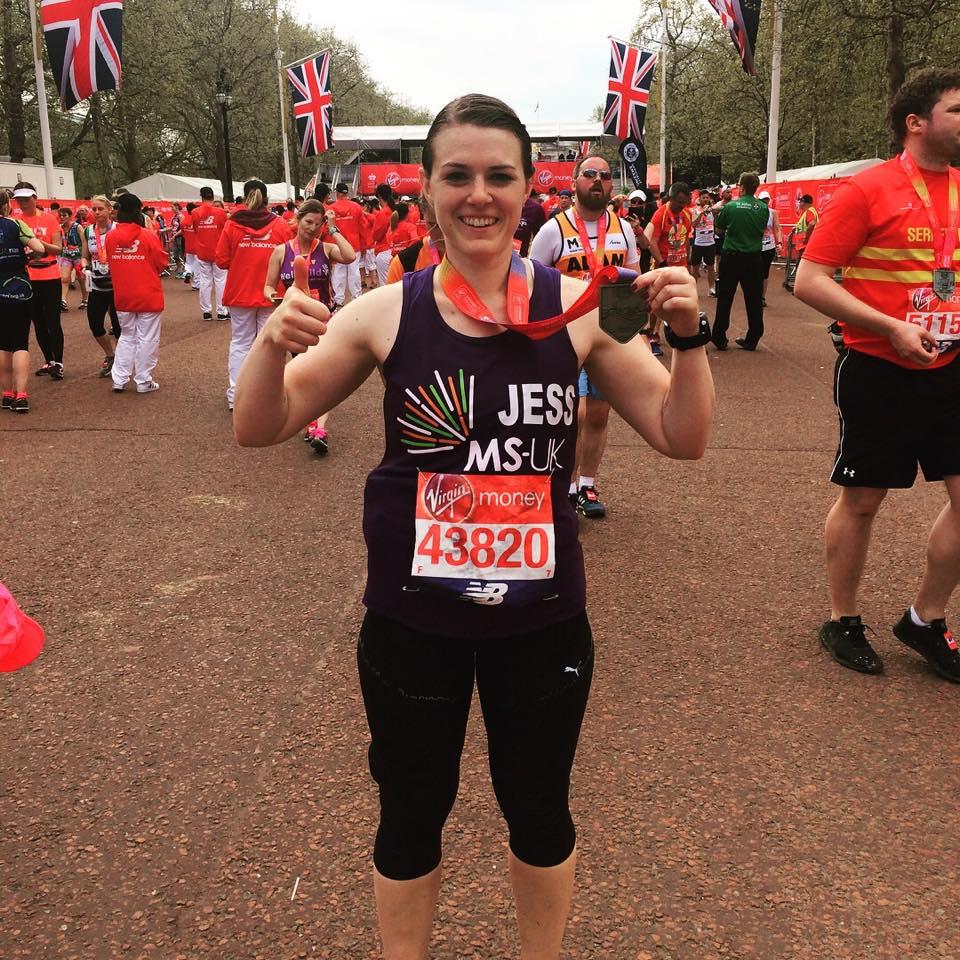 Jess after 2018 London Marathon