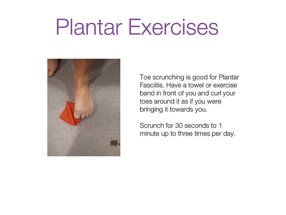 Plantar exercises