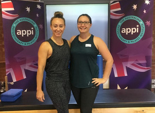 Sophie and Annabel enhance their Pilates knowledge with world-class trainers APPI