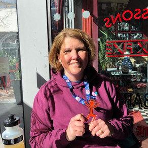 """""""Thanks to Nicole, I am ankle-support free and I completed The Big Half!"""" - Bex Smith"""
