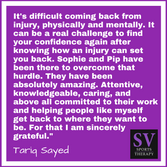 """""""From day 1 I have been given unprecedented treatment."""" - Tariq Sayed"""
