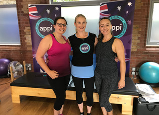 Sophie and Annabel attend two-day Pilates training course