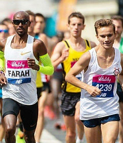 George Day with Mo Farah at Vitality 10k