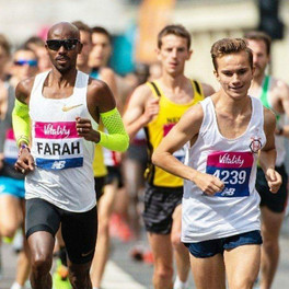 When George ran with Mo Farah... and got a new PB!