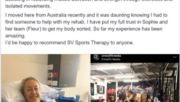 """""""I'd be happy to recommend SV Sports Therapy to anyone"""" - Neisha"""