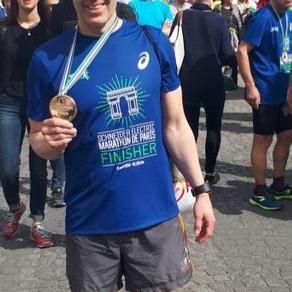 SV client Roland conquers his first marathon