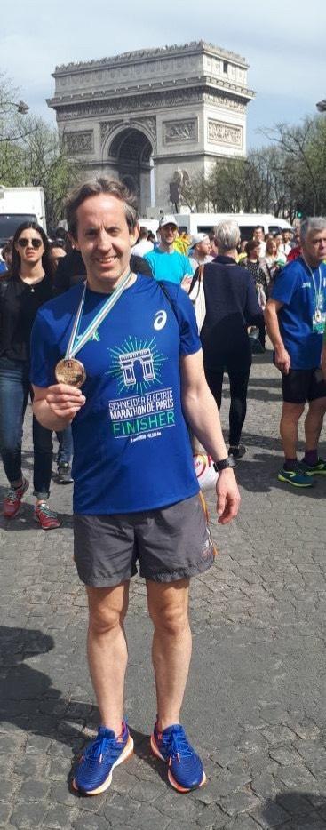 SV client Roland runs Paris Marathon