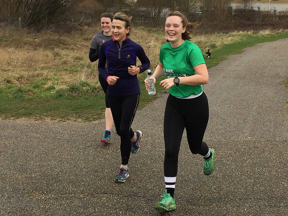 Jess' marathon training with Orion Harriers