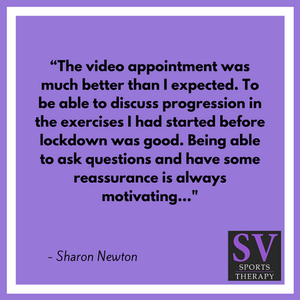 """""""The video appointment was much better than I expected.""""- Sharon Newton"""