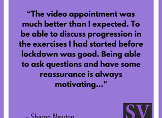 """The video appointment was much better than I expected.""- Sharon Newton"