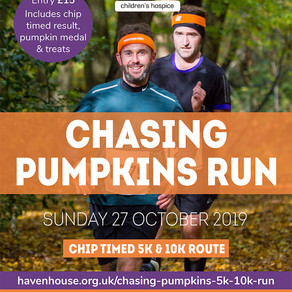 SV to provide support at Haven House Chasing Pumpkins Run