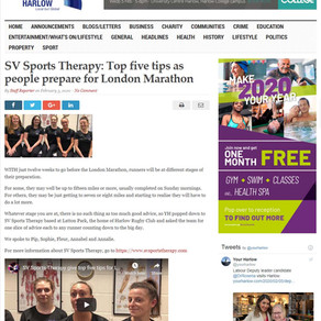 Press: Top five tips as people prepare for London Marathon - Your Harlow