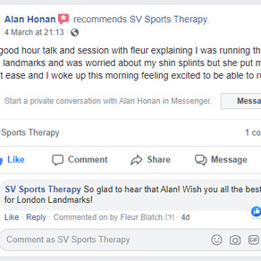 """""""Had a good hour talk and session with Fleur..."""" - Alan Honan"""