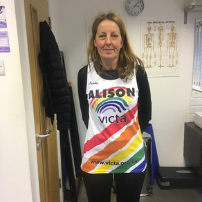 Alison is proud to be running the London Marathon for VICTA