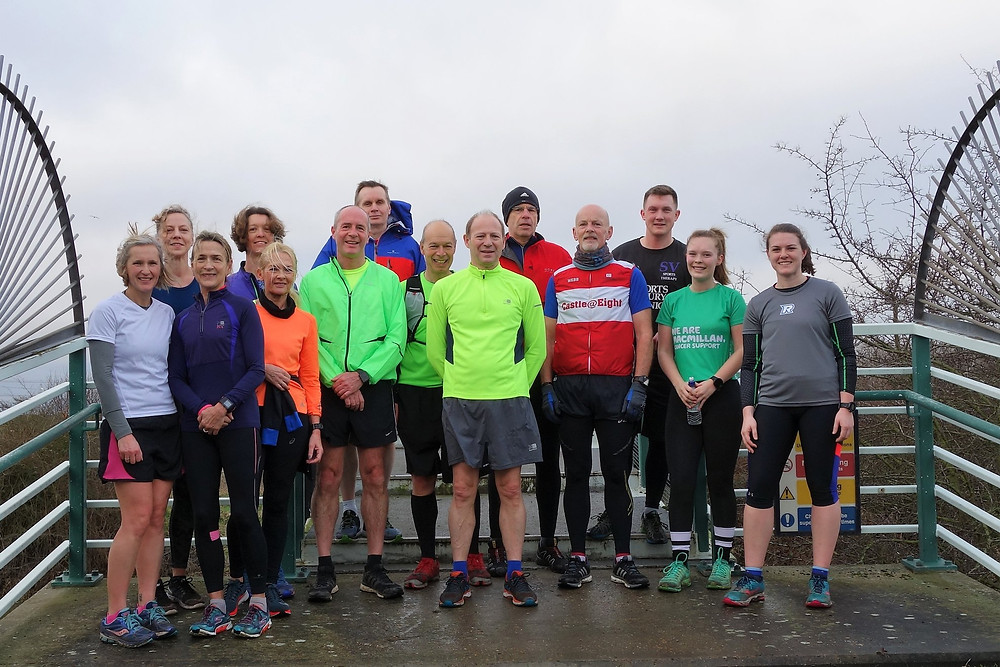 Jess' marathon training with Orion Harriers