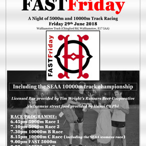 SV is proud to sponsor Orion Harriers' FASTFriday
