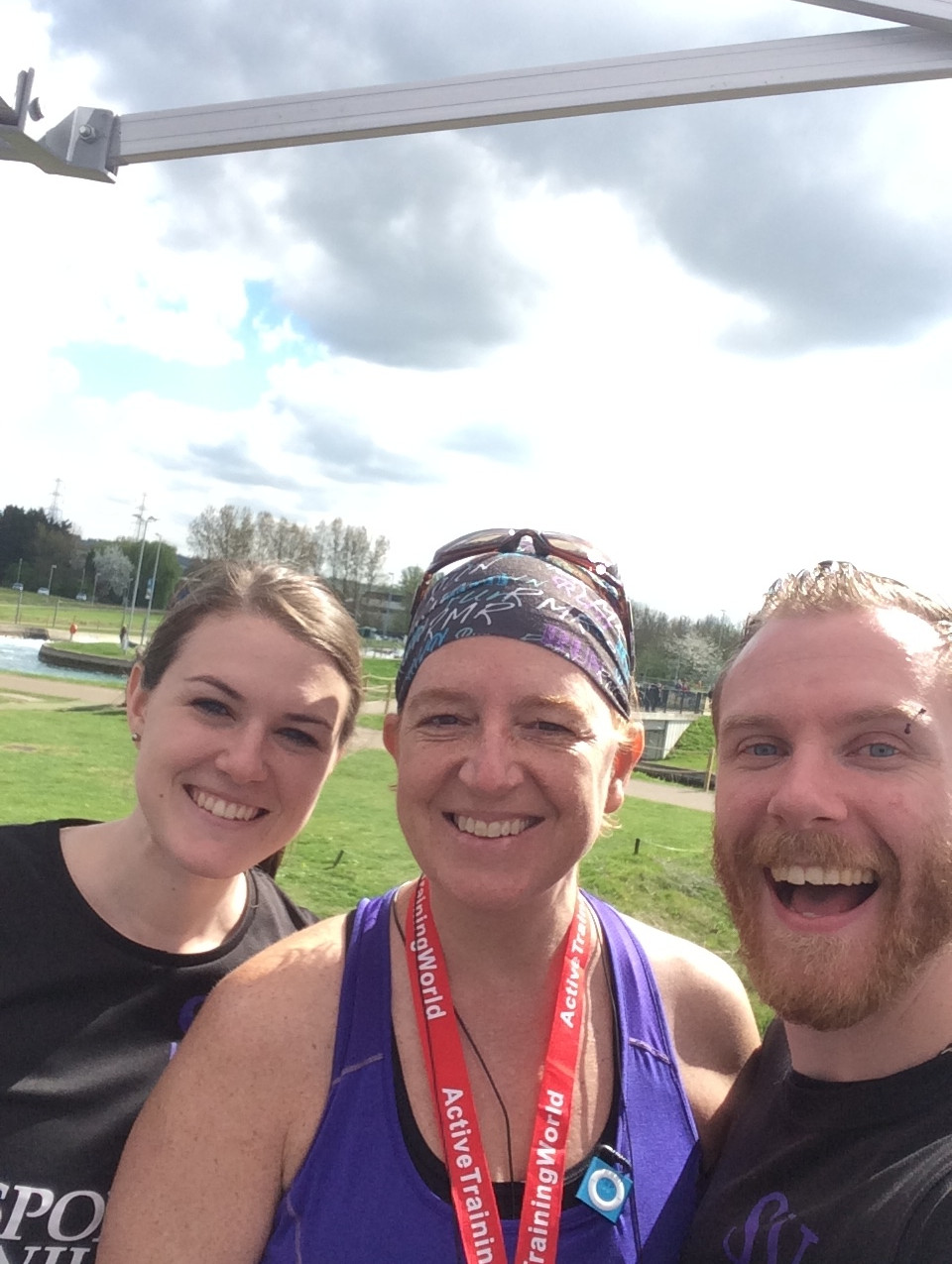 Jess, Maxine and Chris at RunFest