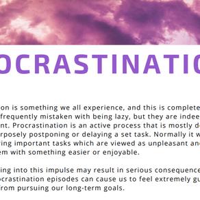 Lets Talk Procrastination!